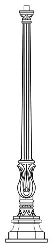 Lampenmast M45