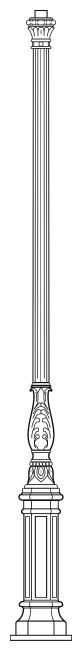 Lampenmast M49B