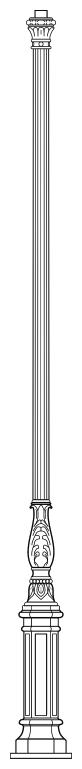 Lampenmast M49C