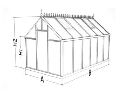 Gewächshaus Victorian Junior Skizze