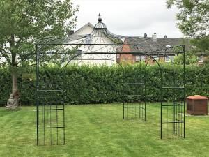 Stabiler Rosenpavillon aus Eisen
