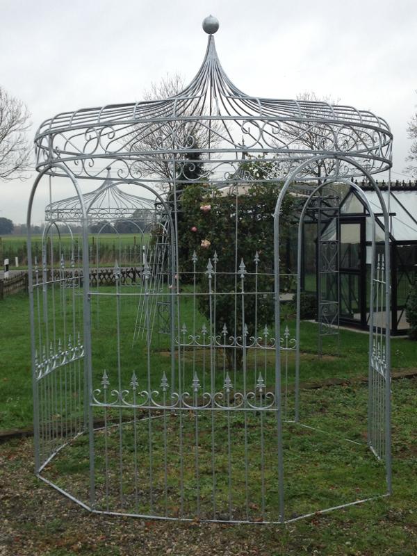 rosenpavillon aus metall verzinkt und stabil. Black Bedroom Furniture Sets. Home Design Ideas