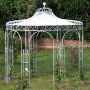 Rosenpavillon aus Metall