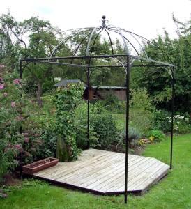Hochwertiger Gartenpavillon aus Schmiedeeisen
